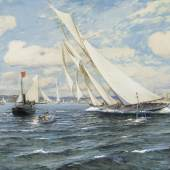 Michael Zeno Diemer 'Zieldurchgang der Hamburg bei der Kieler Woche vor Eckernförde 1903' (Lot. 101)