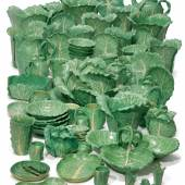 An Extensive Dodie Thayer Pottery Lettuce Ware Part-Service Estimate $10/15,000 Sold for $60,000