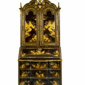 A Chinese Export Black and Gold Lacquer Bureau Cabinet Circa 1730 Estimate $50/80,000 Sold for $162,500
