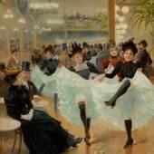 10310 Lot 409 - Jean Béraud, Le Café de Paris
