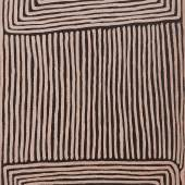 The Estate of David Larwill Ninu (Greater Bilby) Dreaming at Tjiturrulnga Ronnie Tjampitjinpa 1999 35 7/8 in by 24 in (91 cm by 61cm) Synthetic polymer paint on linen Estimate $6/8,000