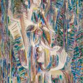 Bildbeschreibung: Wifredo Lam Omi Obini Signed Wifredo Lam and dated 43 lower right Oil on canvas Estimate $8/12 million