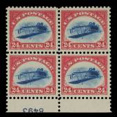 10398 24-Cent Inverted Jenny Plate Block