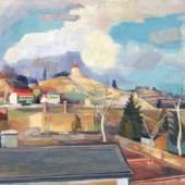149   Paul Wilhelm, Radebeul, Niederlößnitz - Blick auf das Minckwitzsche Weinberghaus. 1925-1935. Ausrufpreis 3.500 €
