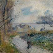 10495 Lot 18 - Camille Pissarro, Effet de neige à Osny, La Ferme à Noël