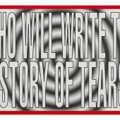Barbara Kruger Untitled (Who Will Write the History of Tears?) archival pigment print, in artist's chosen frame Executed in 2011, this work is number 1 from an edition of 10. Estimate $30/40,000