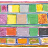 Stanley Whitney Untitled monotype in watercolor on lanaquarelle paper Executed in 2019. Estimate $25/35,000