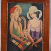 Los-Nr. 208 Gemälde: 2 Freundinnen, um 1930 Ausruf: 250,00 €