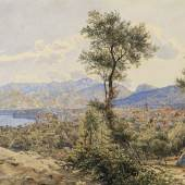ALT, Jacob  1789 – 1872 Blick auf Sorrent  1835 € 10.000 -15.000, Aquarell auf Papier 24 x 37, 5 cm