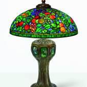 10702 Tiffany Studios Rare Fruit Table Lamp
