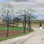 """143   Bernhard Kretzschmar """"Reitpartie nach Goppeln"""". 1938.  Bernhard Kretzschmar 1889 Döbeln – 1972 Dresden 30.000 €"""