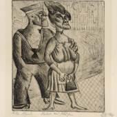 """422  Otto Dix """"Matrose und Mädchen"""". 1920. Otto Dix 1891 Untermhaus/Gera – 1969 Singen am Bodensee 20.000 €"""
