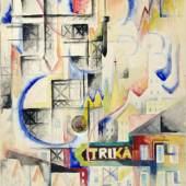 "370  Gösta Adrian-Nilsson ""Telefonturm"" (Alter Telefonturm in Klarakvarteren, Stockholm). 1917. 30.000-50.000 € Zuschlag120.000 €"