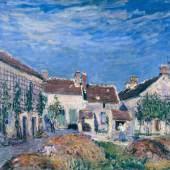 Alfred Sisley Un Cour auc Sablons, 1885