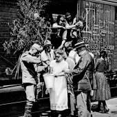 10 April 1914 Auszug c Bergiselstiftung Mobilisierung der Soldaten in Güter- und Viehwagons nach Galizien und auf den Balkan Copyright: Bergiselstiftung