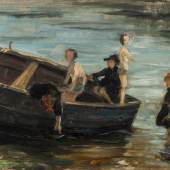 Franz Marc, Kinder im Boot, 1903 Kunsthalle Bremen – Der Kunstverein in Bremen Foto: Karen Blindow
