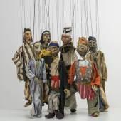 Maria Luiko, Marionetten zu unterschiedlichen Bühnenstücken, Textil, Draht, Maché und Mullkaschierung farbig gefasst, um 1935 © Münchner Stadtmuseum