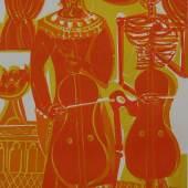 Grieshaber, HAP. Totentanz von Basel. 40 Farbholzschnitte. Vorzugsausgabe. 1966. 12.500,- (Inlibris, Wien + Kotte, Roßhaupten)
