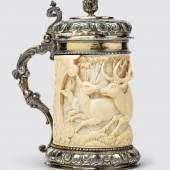 Augsburger Deckelhumpen, Silber mit Elfenbeinmantel, € 38.000 - 48.000