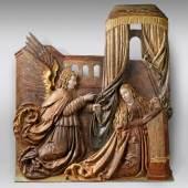 Relief um 1520, Verkündigung, Lindenholz, € 26.000 - 30.000