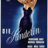 Die Sünderin, Filmplakat, Österreich, 1951, 59 x 84 cm, Rufpreis € 120, Fotonachweis: Dorotheum