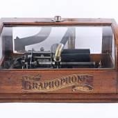 Phonograph Columbia The Graphopon, Münzeinwurfmechanik, um 1900, Rufpreis € 260