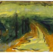 Emil Nolde Marschlandschaft, um 1920 Aquarell auf Japan, 35,1 x 47, 9 cm Aufruf: 95.000 € Ergebnis: 170.800 € Leihgabe aus Privatbesitz, Berlin
