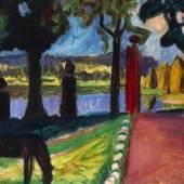 Auktion: 392 / Moderne Kunst am 09.06.2012   Lot: 111003605   Münter, Gabriele  Abend am See  Schätzpreis: 220.000 EUR / 288.200 $