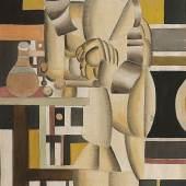 Fernand Léger Deux femmes à la toilette, 1920 Aquarell und Bleistift auf Ingres-Bütten, 46,2 x 26,5 cm Aufruf: 160.000 € Ergebnis: 195.200 € Leihgabe aus Privatbesitz