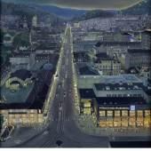 Reinhold Nägele, Aussicht vom Bahnhofsturm..., 1930