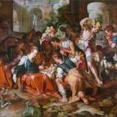 Joachim Antonisz Wtewael (1566 - 1638) Anbetung der Hirten, Schätzwert € 300.000 - 400.000, Fotonachweis: Dorotheum