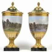 Auktion Antiquitäten 13. Oktober 2011 Paar historische bedeutende Deckelvasen mit Veduten von Malmaison, Porzellan, KPM Berlin 1803 - 1813, Schätzwert € 80.000 - 120.000, Fotonachweis: Dorotheum