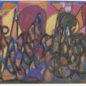 Lot: 461   Hölzel, Adolf  Ohne Titel (Figurenkomposition), 1920.  Schätzpreis: 12.000 EUR / 15.600 $