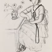 Lot: 243   Matisse, Henri  La robe jaune au ruban noir, 1922.  Schätzpreis: 11.000 EUR / 14.300 $