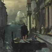Lot: 726   Moia, Federico  Nächtliche Szene in Venedig, 1853.  Schätzpreis: 6.500 EUR / 8.450 $