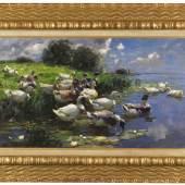 Auktion: 402 / Alte Meister & Kunst d. 19. Jh am 14.05.2013   Lot: 714   Koester, Alexander  Enten (Seelandschaft), 1909.  Erlös (inkl. 22% Aufgeld): 53.680 EUR / 70.857 $ Schätzpreis: 45.000 EUR / 59.400 $