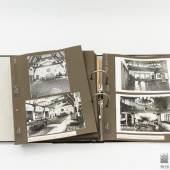 Umfangreiche Fotodokumentation  über den Landsitz Carinhall von Hermann Göring (1893-1946), bestehend aus: 57 schwarz-weißen Fotografien, in der Regel im Format 13 x 18 cm bzw. 18 x 13 cm, aufgeklebt auf 38 dunklen Kartonblättern.  Aufrufpreis: 7.200,00 € inkl. Aufgeld