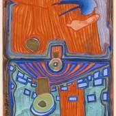 Lot: 665   Hundertwasser, Friedensreich  Nana Hyaku Mizu, 1966.  Schätzpreis: 22.000 EUR / 28.600 $
