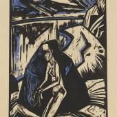 Lot: 413   Heckel, Erich  Kniende am Stein, 1913.  Schätzpreis: 8.000 EUR / 10.400 $