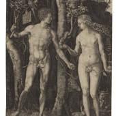 Lot: 569   Dürer, Albrecht  Adam und Eva, 1504.  Erlös (inkl. 25% Aufgeld): 31.250 EUR / 41.250 $ Schätzpreis: 20.000 EUR / 26.400 $