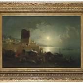 Lot: 695   Franken, Paul von  Der Jungfrauenturm (Qiz Qalasi) in Baku am Kaspischen Meer, 1880.  Erlös (inkl. 22% Aufgeld): 42.700 EUR / 56.364 $ Schätzpreis: 10.000 EUR / 13.200 $