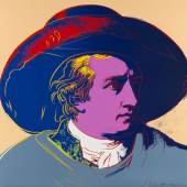 Lot: 788   Warhol, Andy  Goethe, 1982.  Schätzpreis: 40.000 EUR / 52.400 $
