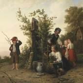 € 36.000* Aufruf: € 24.000 Nr. 330: J. G. Meyer von Bremen – Das Blindekuhspiel