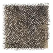 Lot: 114004167 Uecker, Günther Schwarzes Feld I, 1981. Schätzpreis: 100.000 EUR / 131.000 $ Bildquelle: Ketterer Kunst GmbH & Co KG
