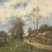 34 ADOLF HEINRICH LIER Frühlingsmorgen, Ca. 1873. Öl auf Leinwand Schätzpreis: € 20.000