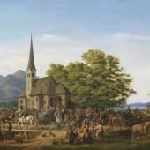 19 KARL ALTMANN St. Leonhardsfest in Fischhausen am Schliersee, 1832. Öl auf Leinwand Schätzpreis: € 30.000