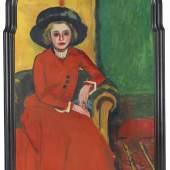 221 Hermann Max Pechstein Bildnis Charlotte Cuhrt, 1910. Öl auf Leinwand Schätzung: € 400.000 Ergebnis: € 825.000