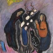 115001321 Gabriele Münter Stilleben im Kreis, 1911. Öl auf Malpappe Schätzpreis: € 150.000