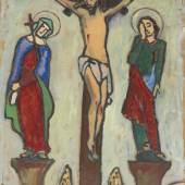 115001322 Gabriele Münter Klage, 1915. Öl auf Malpappe Schätzpreis: € 70.000