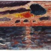 € 400.000* Aufruf: € 280.000 Los 324: Alexej von Jawlensky – Sonnenuntergang, Borkum